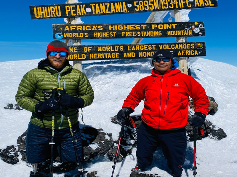 Two double amputees, Hari and Justin, successfully climb Mt Kilimanjaro